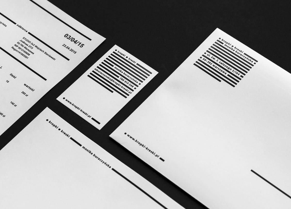 簡約質感名片設計與信紙設計