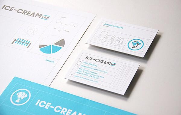 冰品餐廳名片設計