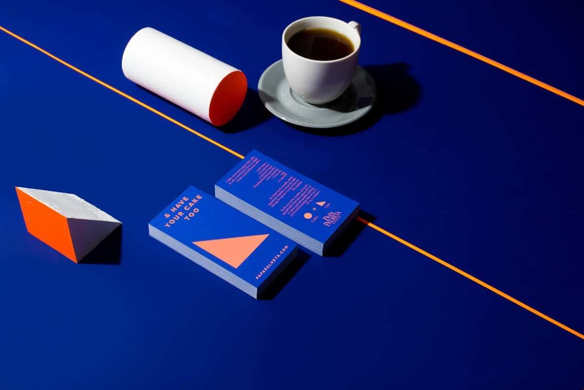 藍色名片設計-下午茶餐廳