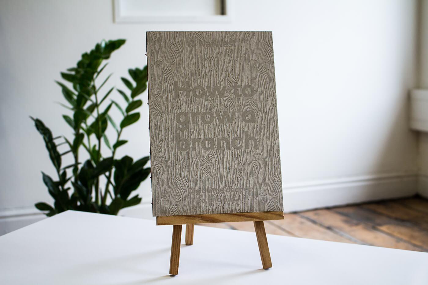 木紋壓印名片設計