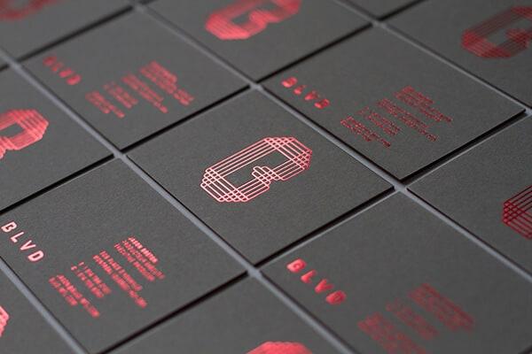 名片設計範例-黑卡燙印加工