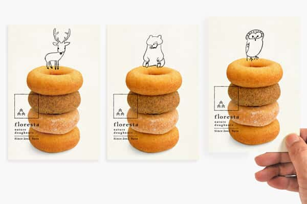 日式甜點名片設計-可愛插畫風推薦