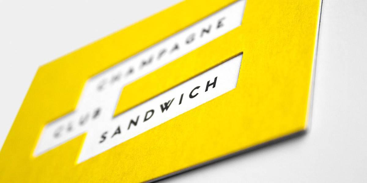 三明治簡餐名片設計