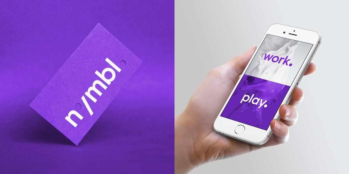 紫色名片設計