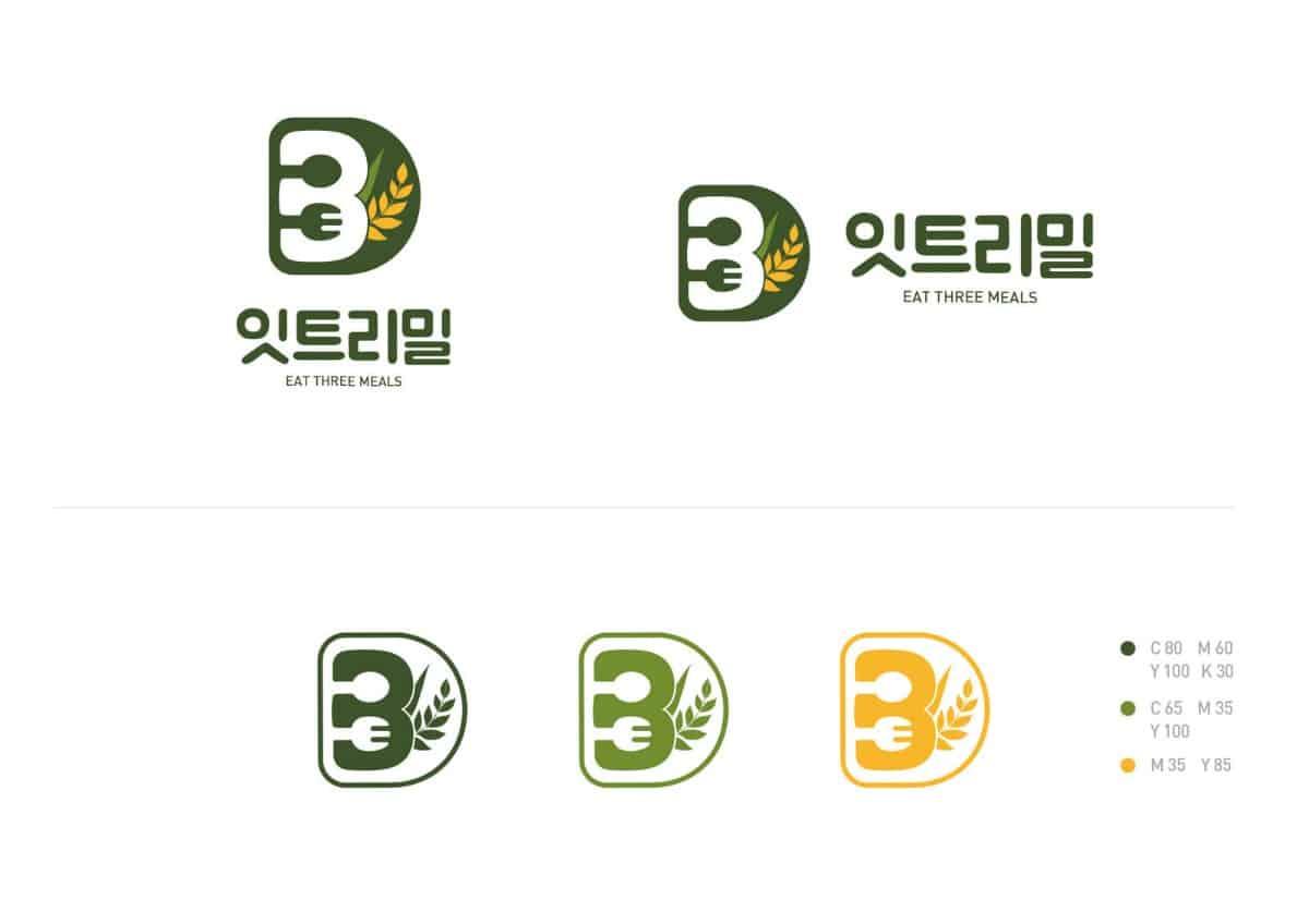 韓國餐應logo設計作品