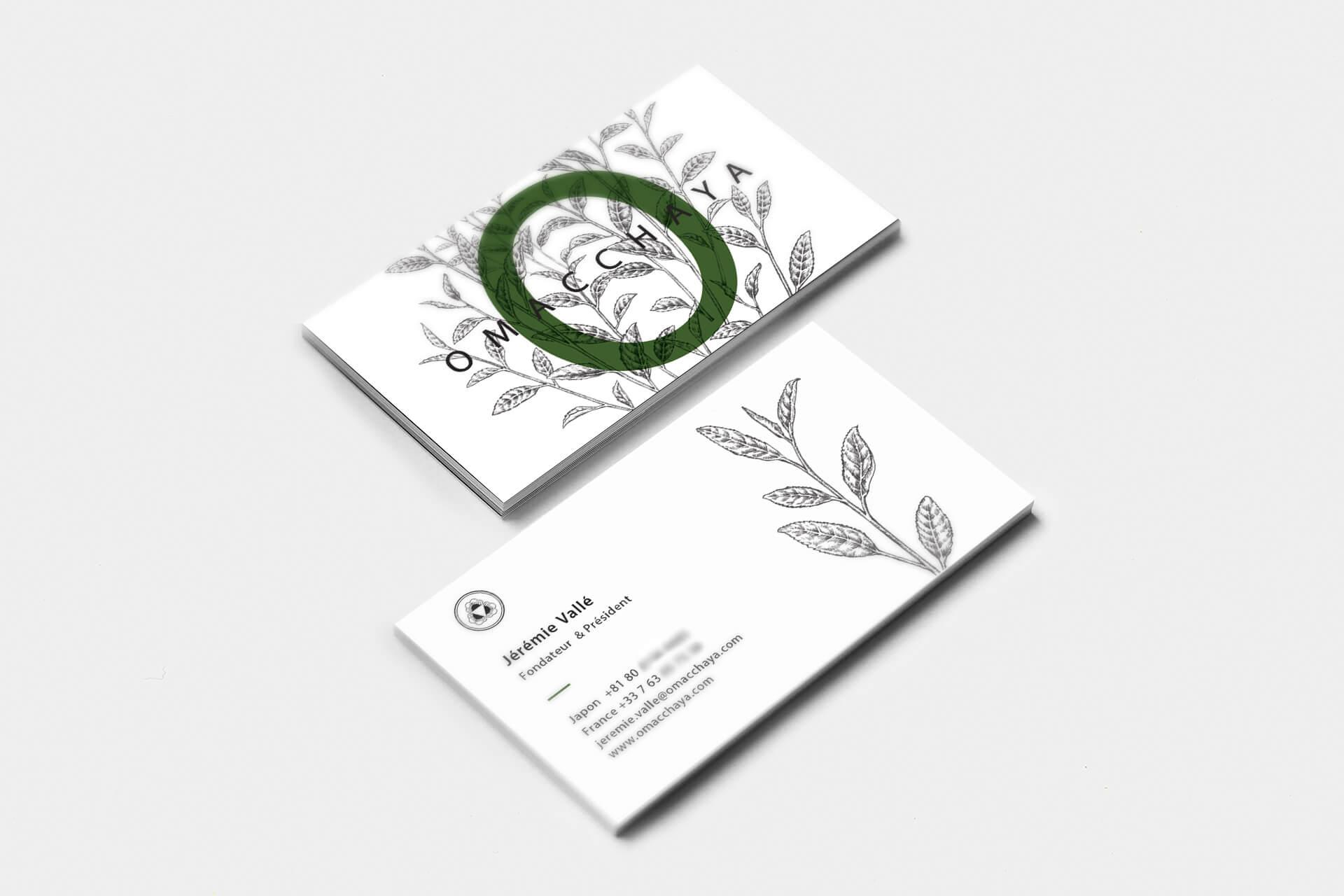 名片設計-日式抹茶品牌/茶館