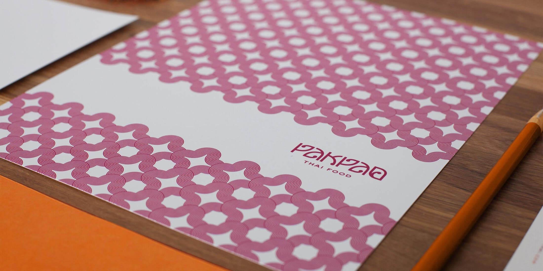 泰式餐館菜單設計