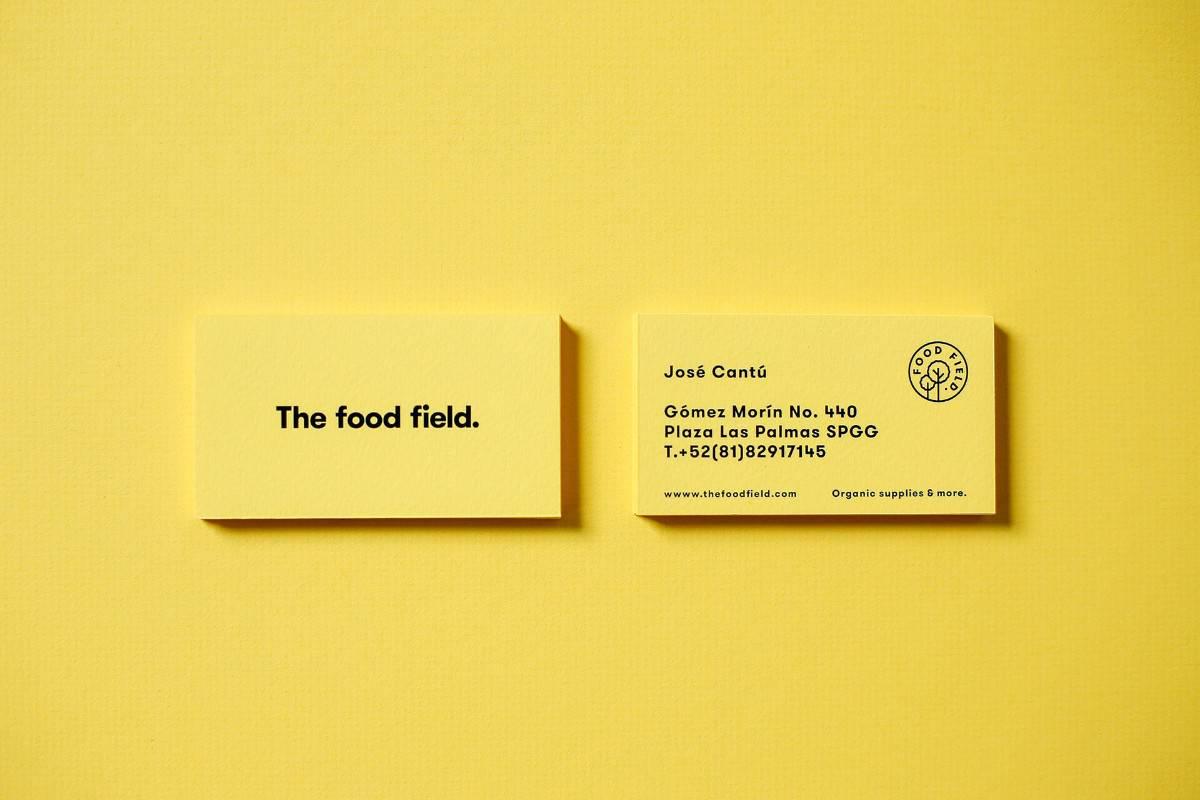 名片設計-有機食品商店品牌設計