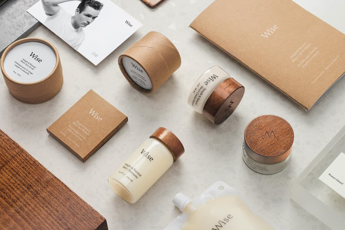 簡約的護膚品牌LOGO設計/包裝設計
