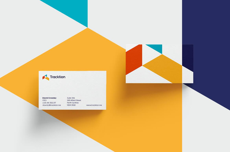 簡約名片設計案例-企業品牌