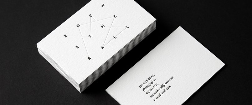 空間設計凸版印壓名片設計