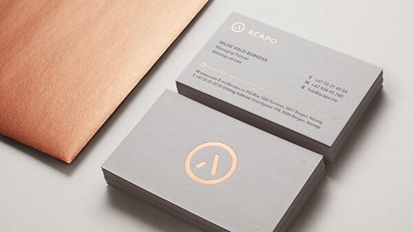 燙金名片設計-專業分享案例