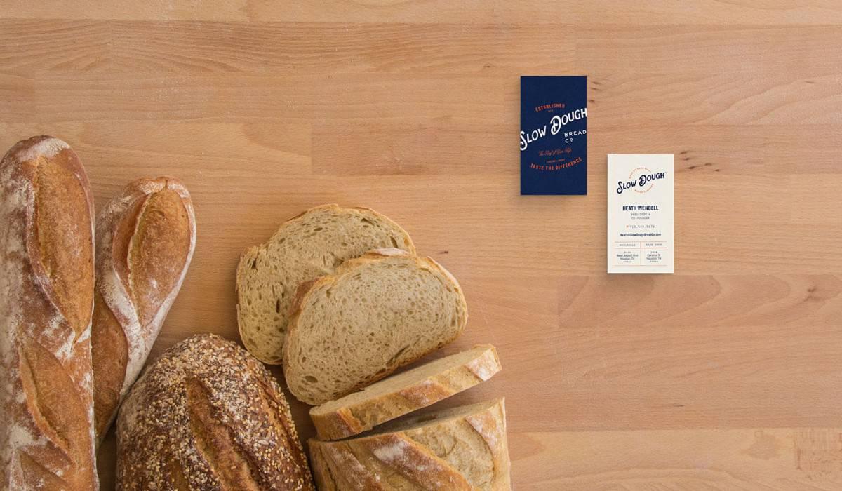 有機麵包名片設計