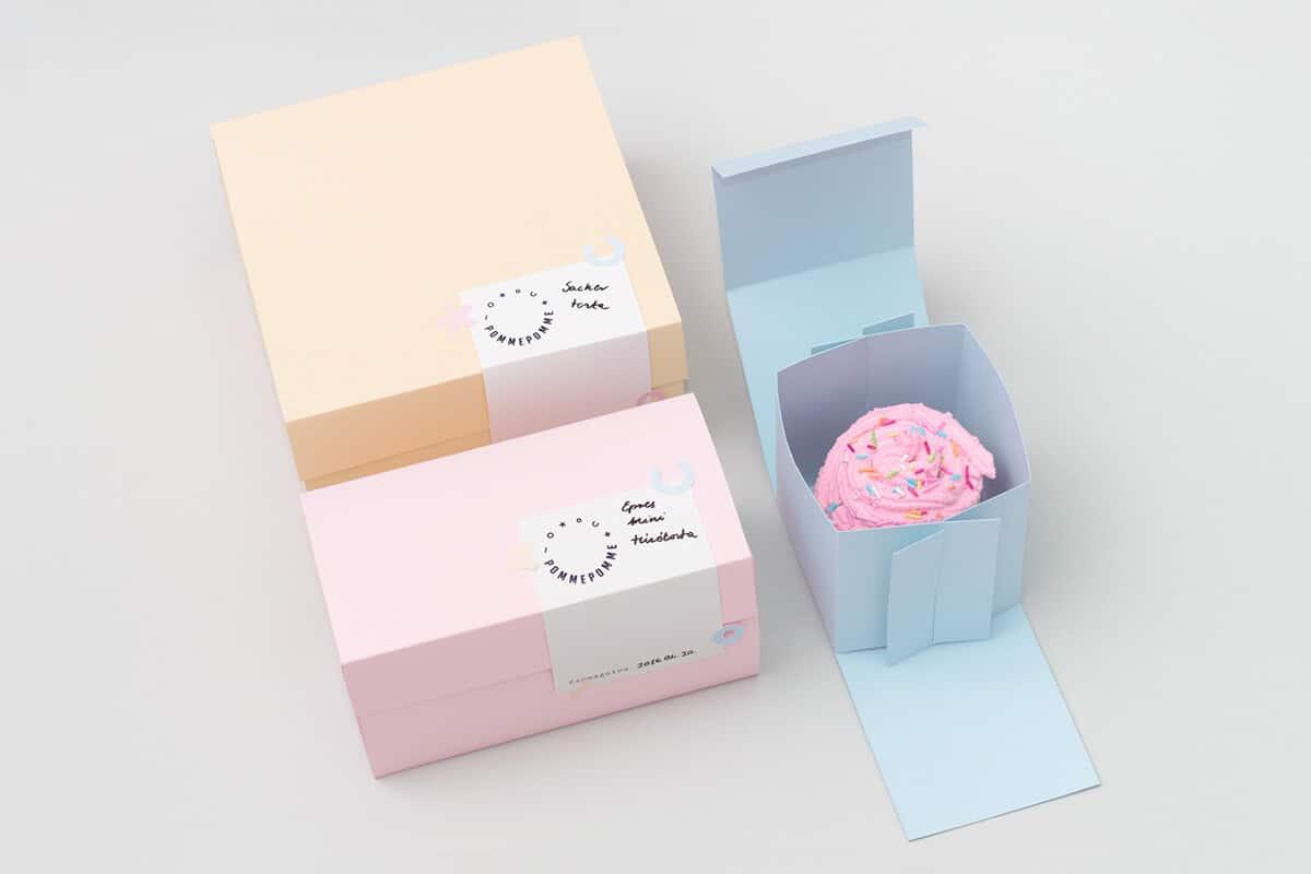 手做蛋糕包裝設計