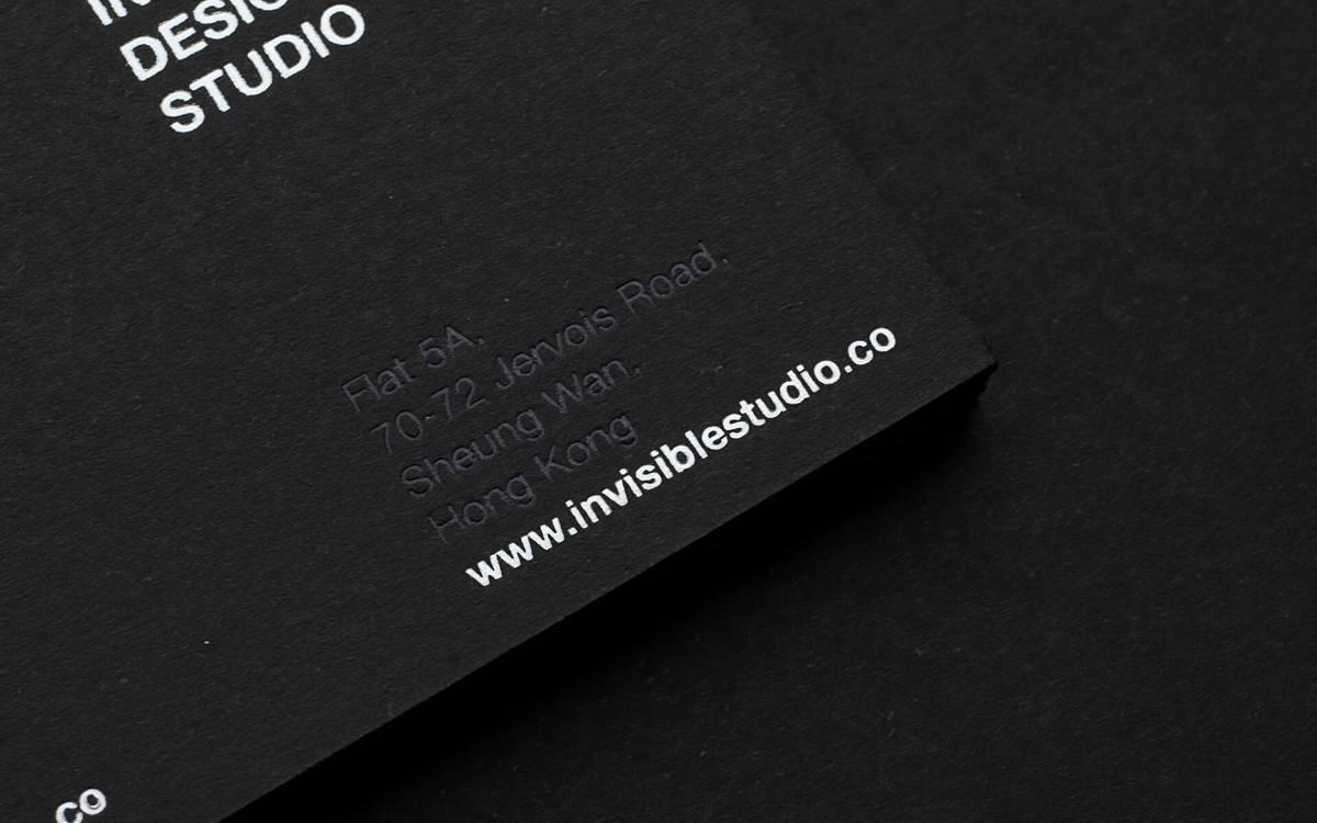 空間設計相關的名片設計(黑色)