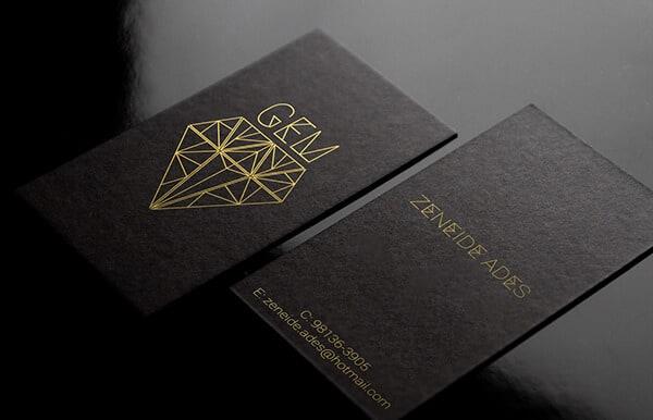 黑色的名片設計推薦
