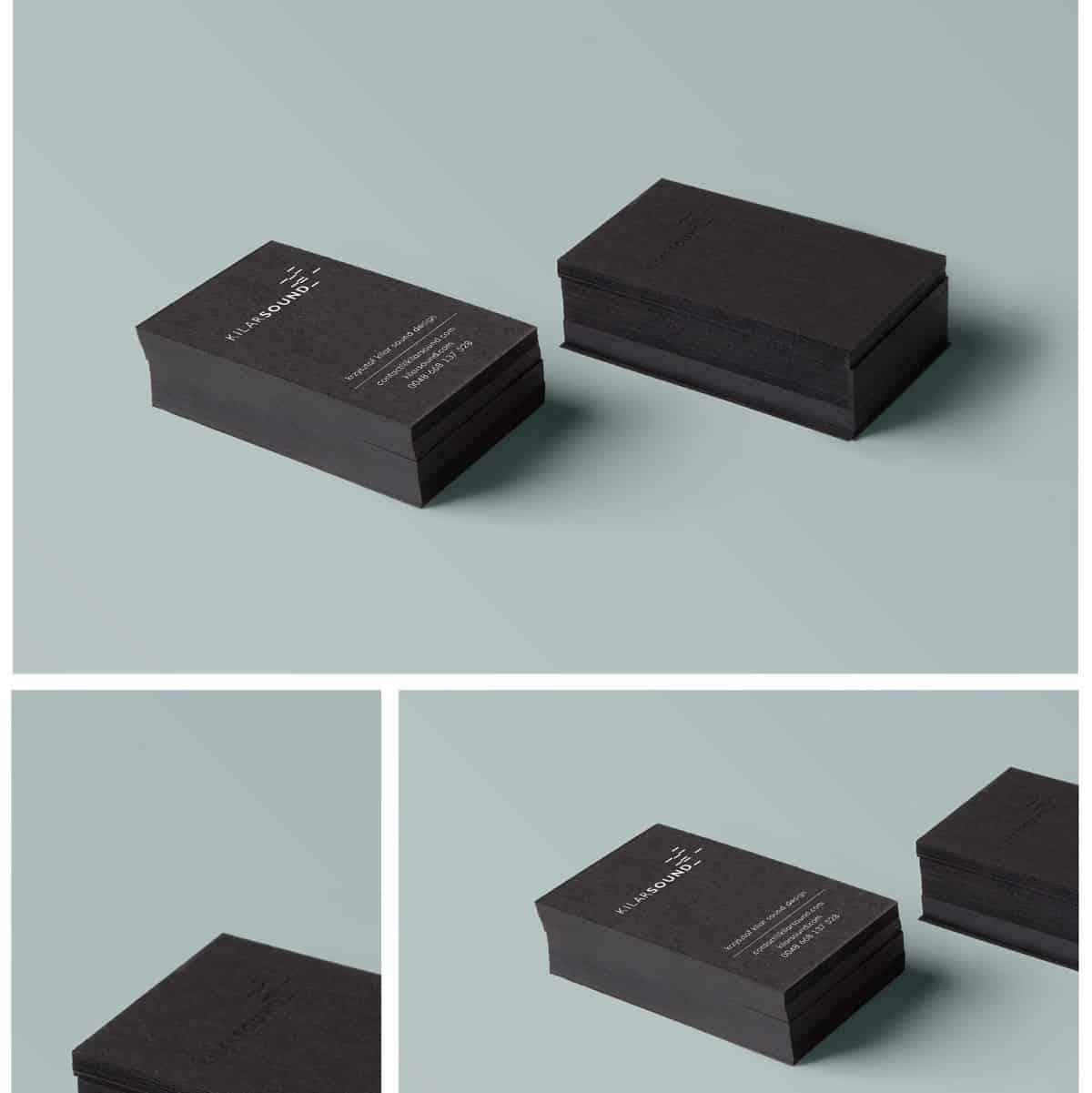 黑色風格的名片設計範本
