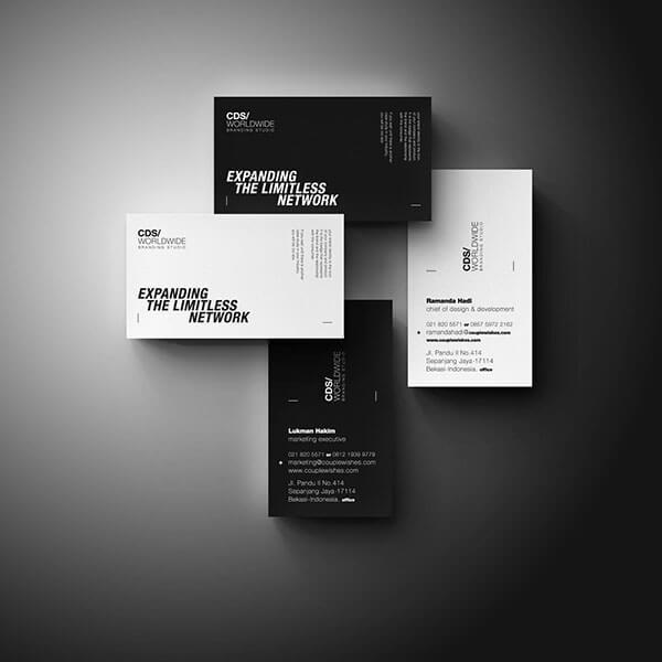名片設計-黑色和白色