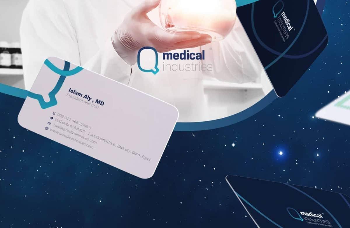 醫療研究中的名片設計