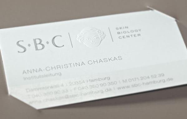 皮膚診所名片設計樣式