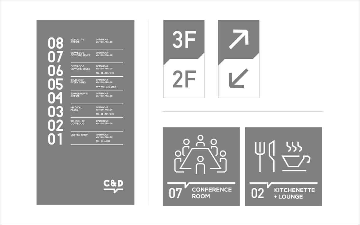 韓國工作室指標標示設計作品