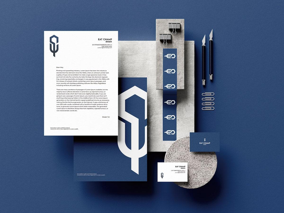 餐飲管理顧問-LOGO信封設計