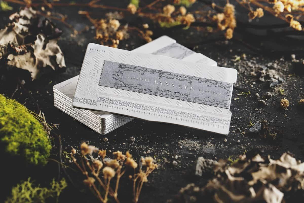 手工典雅名片製作設計-婚禮