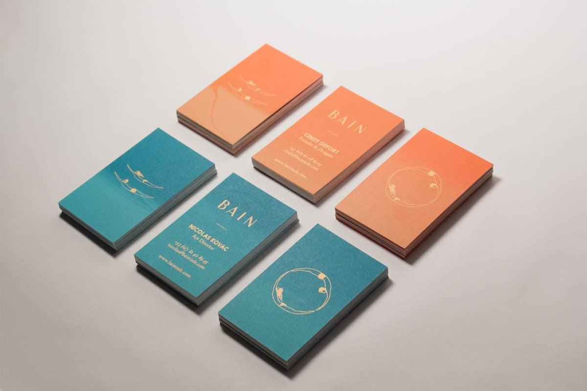泳裝品牌名片設計案例分享