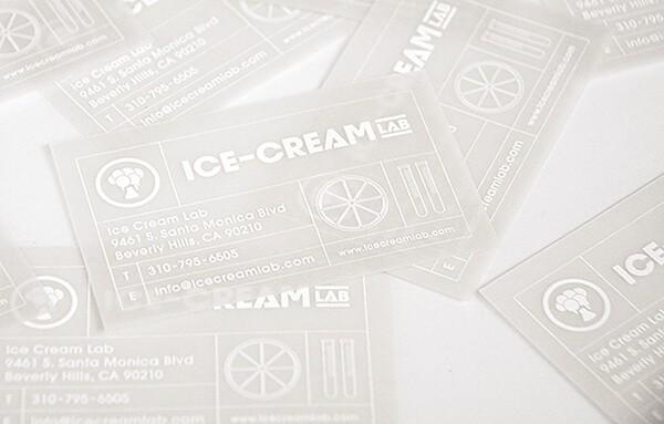 冰淇淋/甜點餐廳名片設計