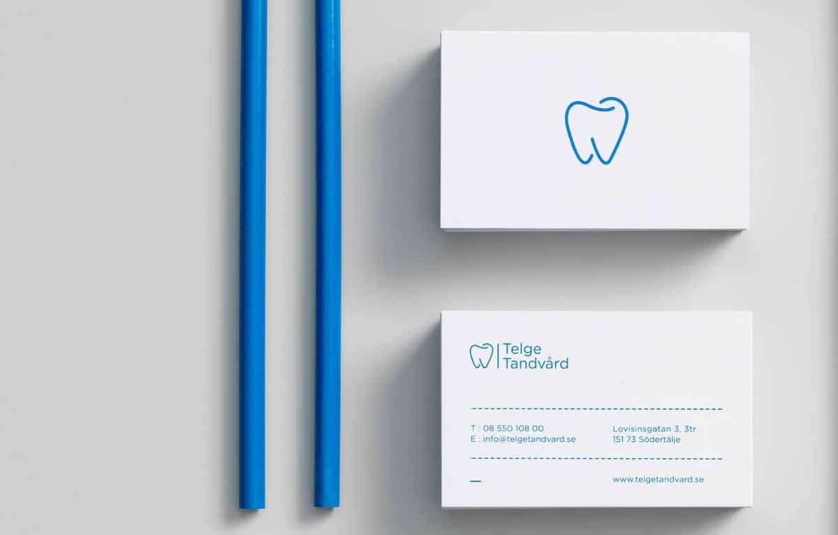 牙醫師的名片設計-藍色簡約