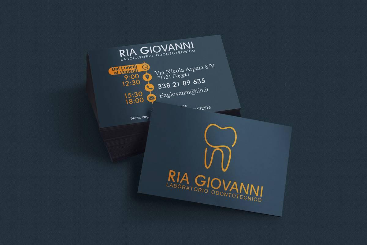 名片設計範例推薦:牙醫診所(深色風格)