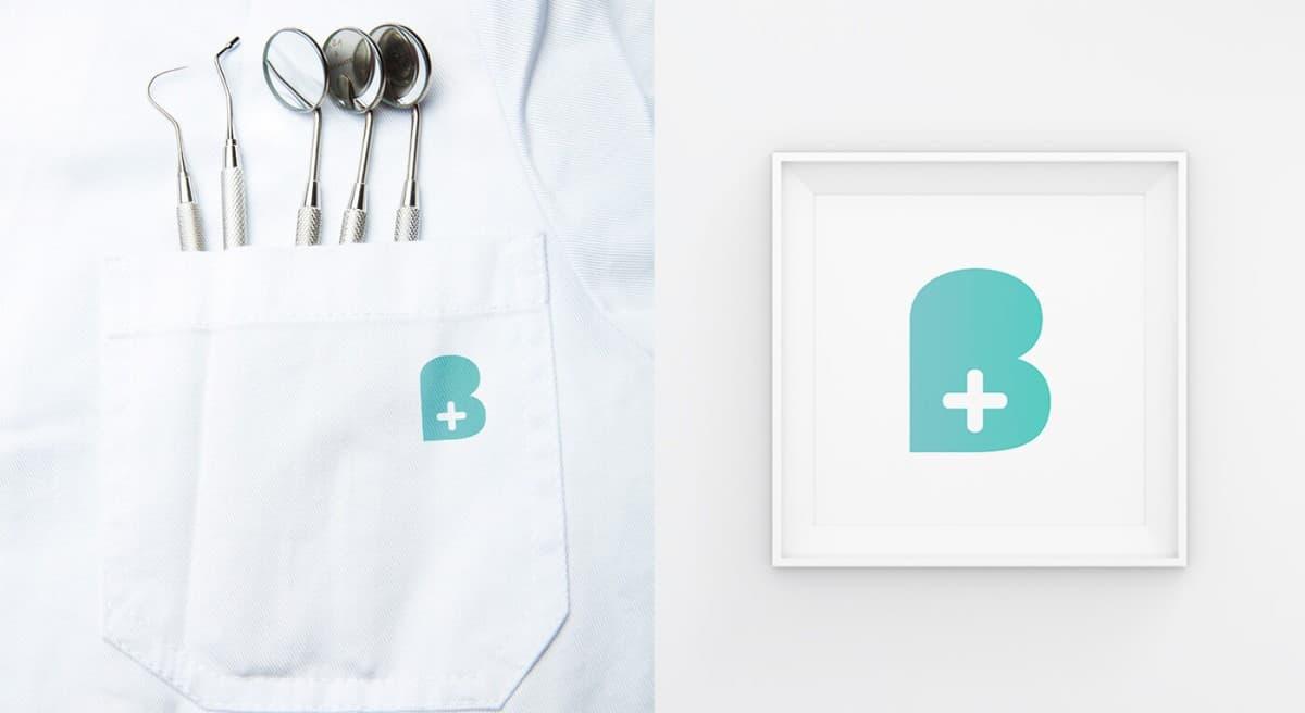簡潔的LOGO設計範例-牙醫