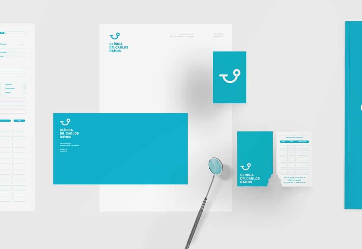 品牌視覺設計(簡約、藍色)