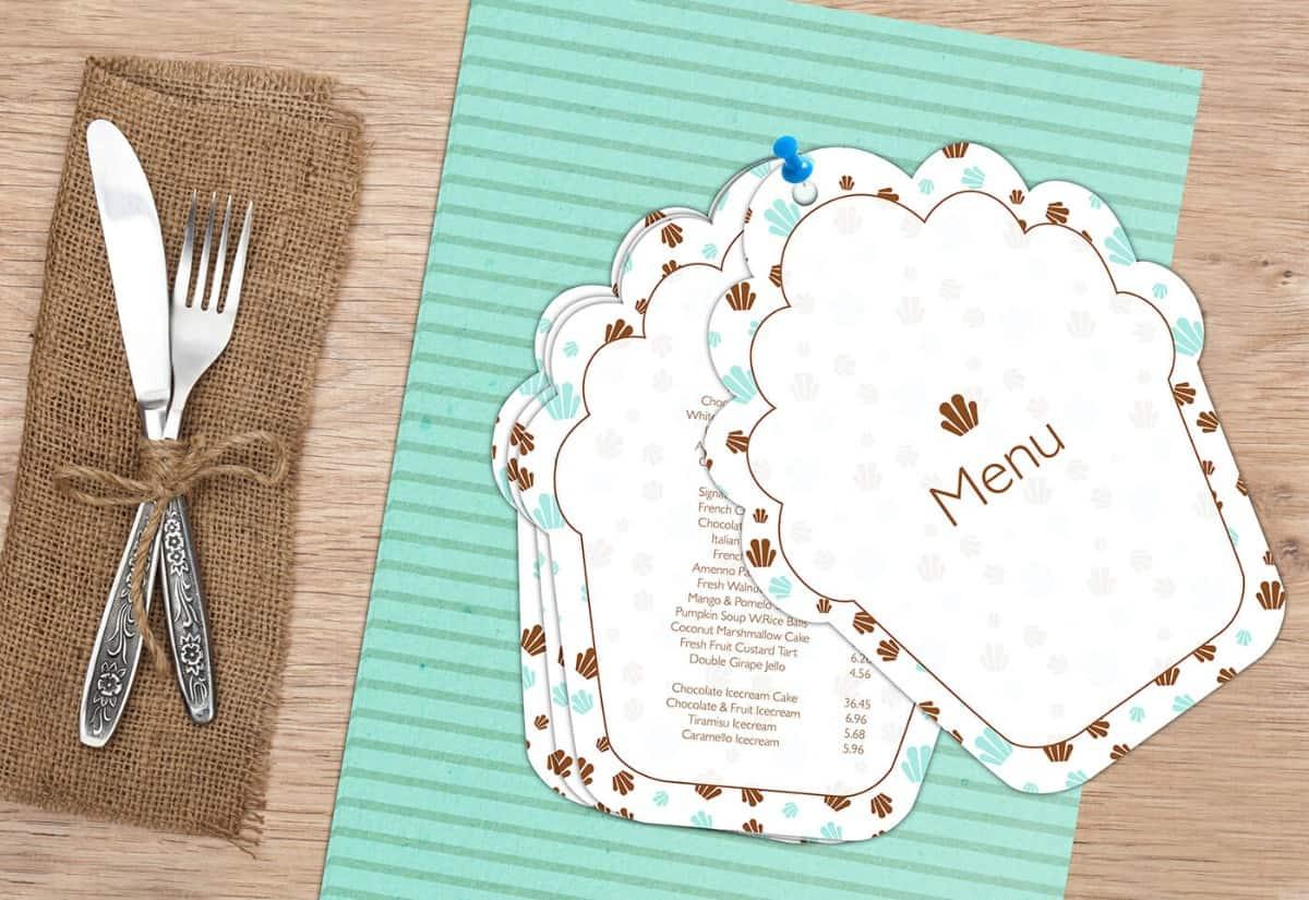 甜點餐廳-菜單設計