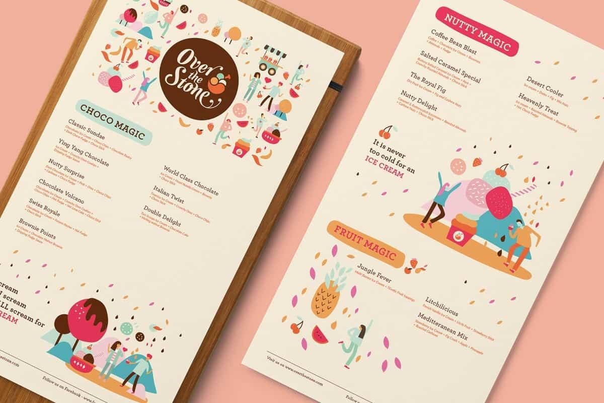 菜單設計-甜點品牌案例