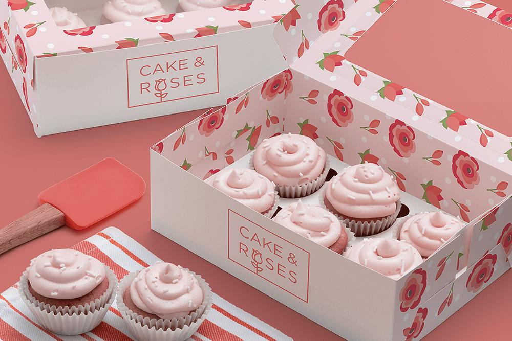 蛋糕品牌標誌設計案例