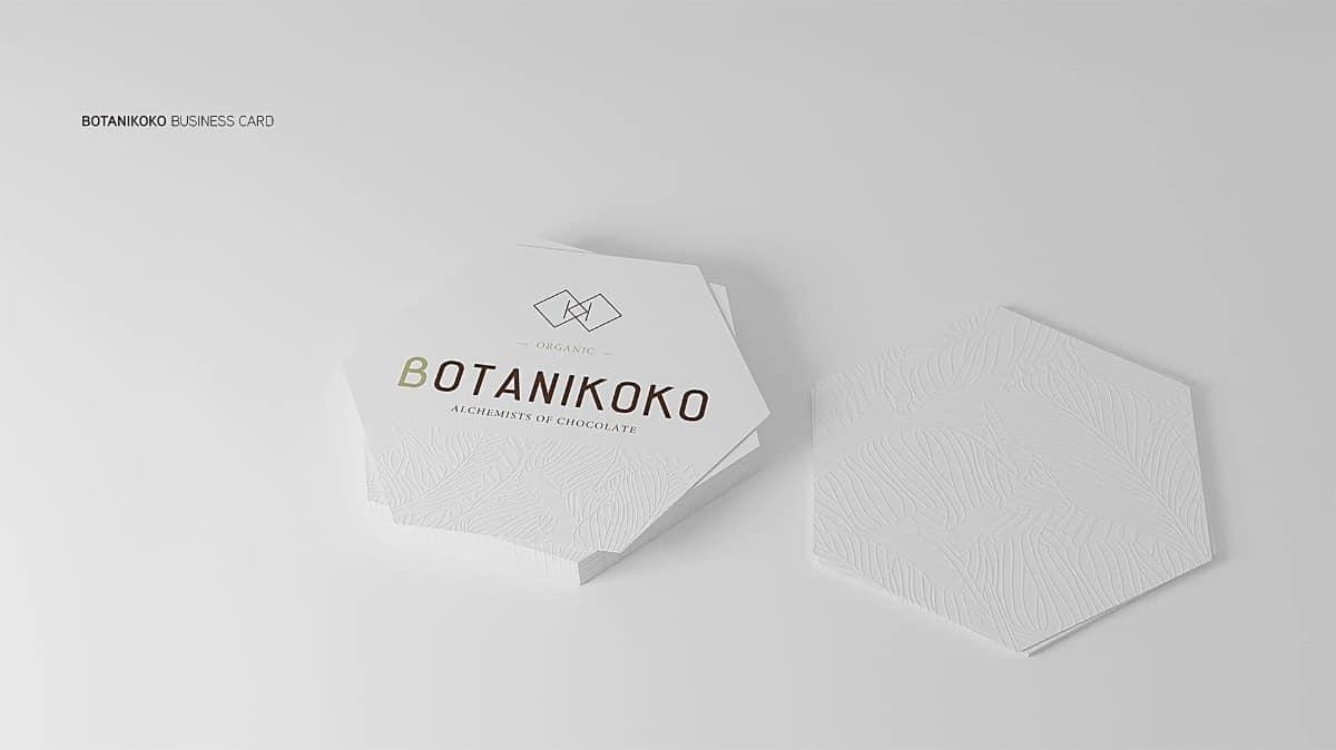 名片設計推薦-特殊形狀(六角形)
