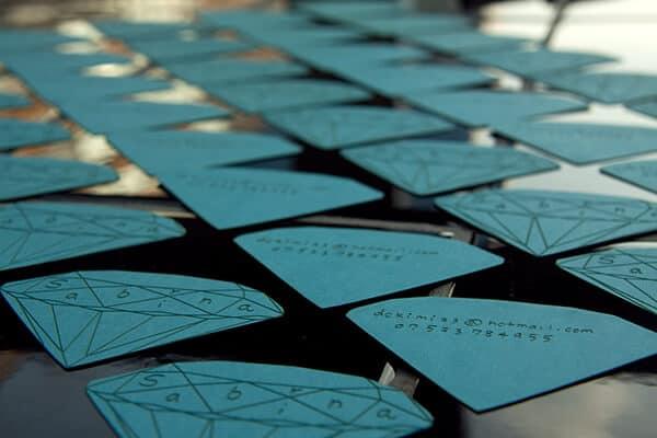 鑽石造型的名片設計推薦案例