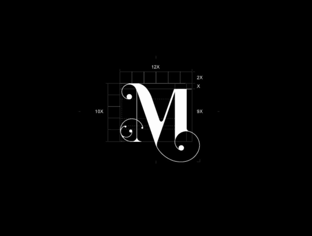 文字型LOGO設計-M