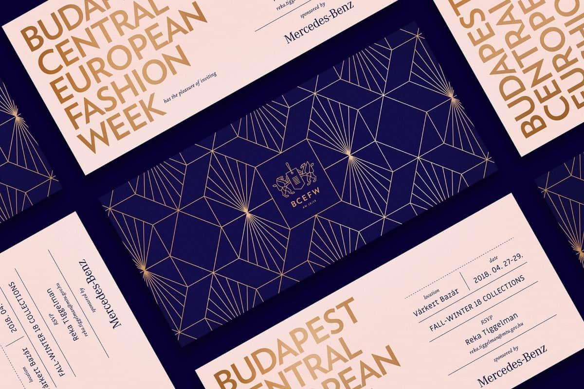 品牌邀請卡設計(時尚主題)