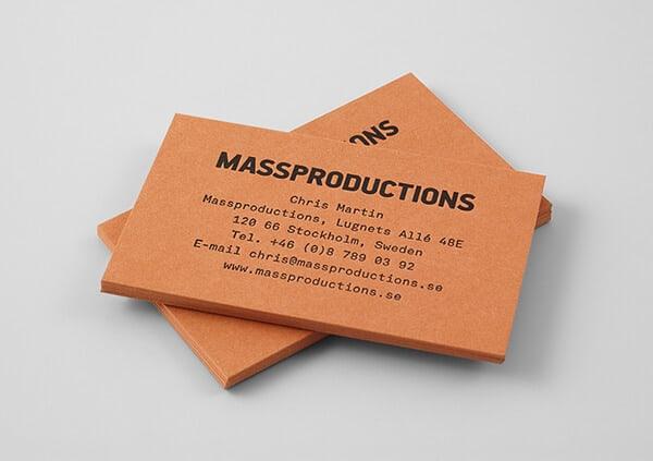 名片設計-極簡/燙印的名片加工案例分享