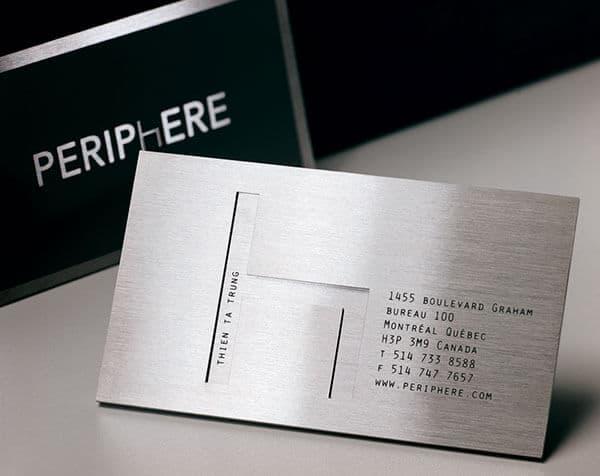 金屬的名片設計/傢具和居家產業