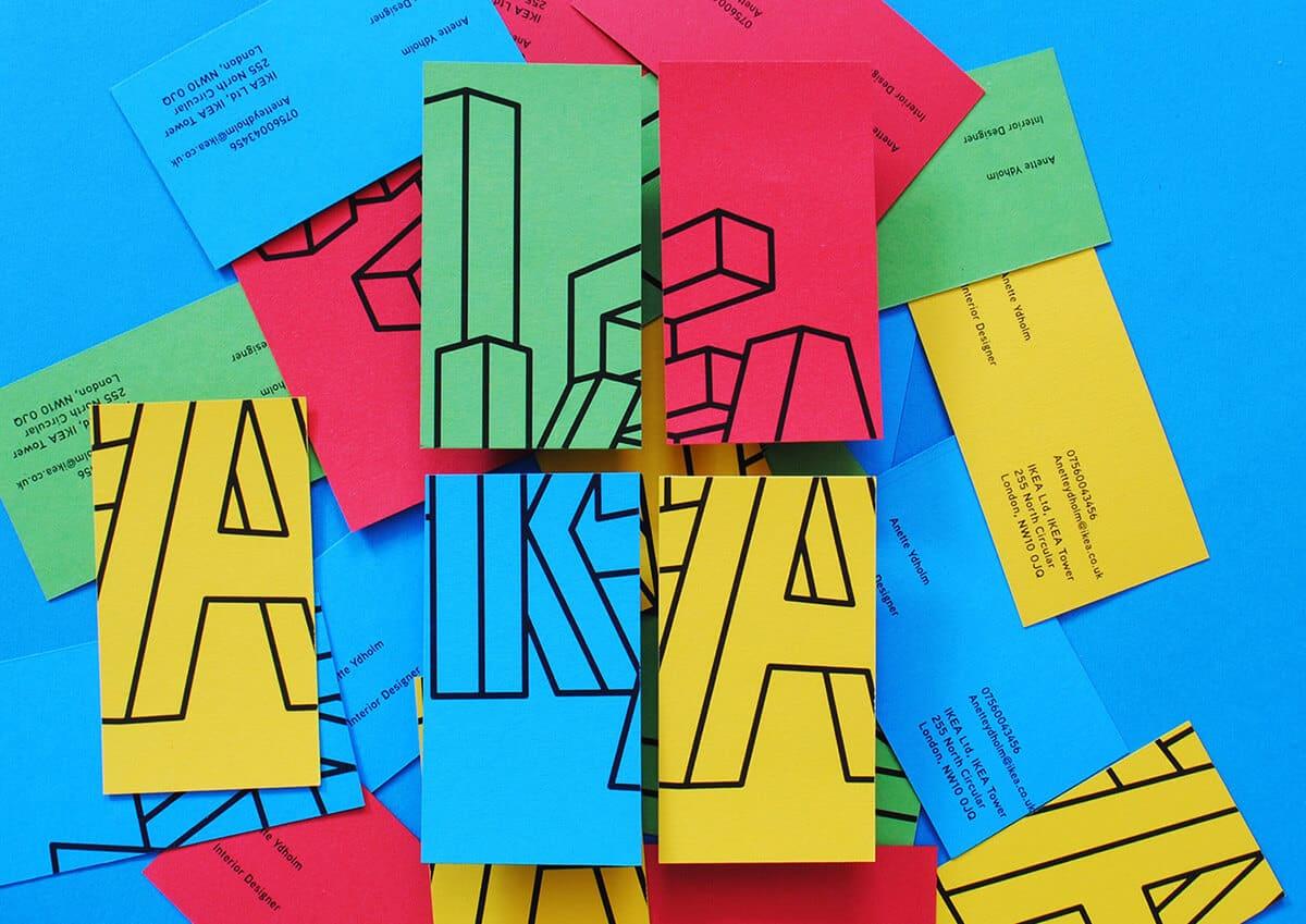 IKEA的名片設計