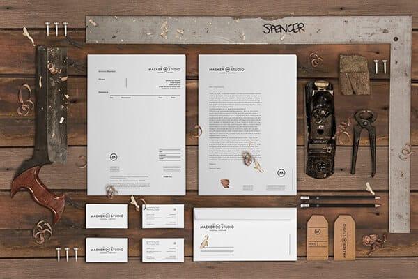 傢具製作設計工作室的視覺設計