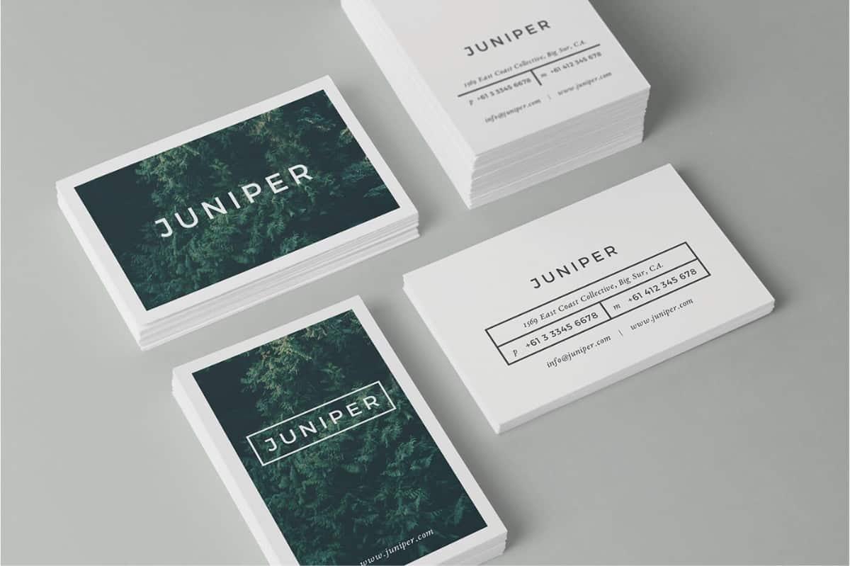 名片設計-綠植行業名片設計