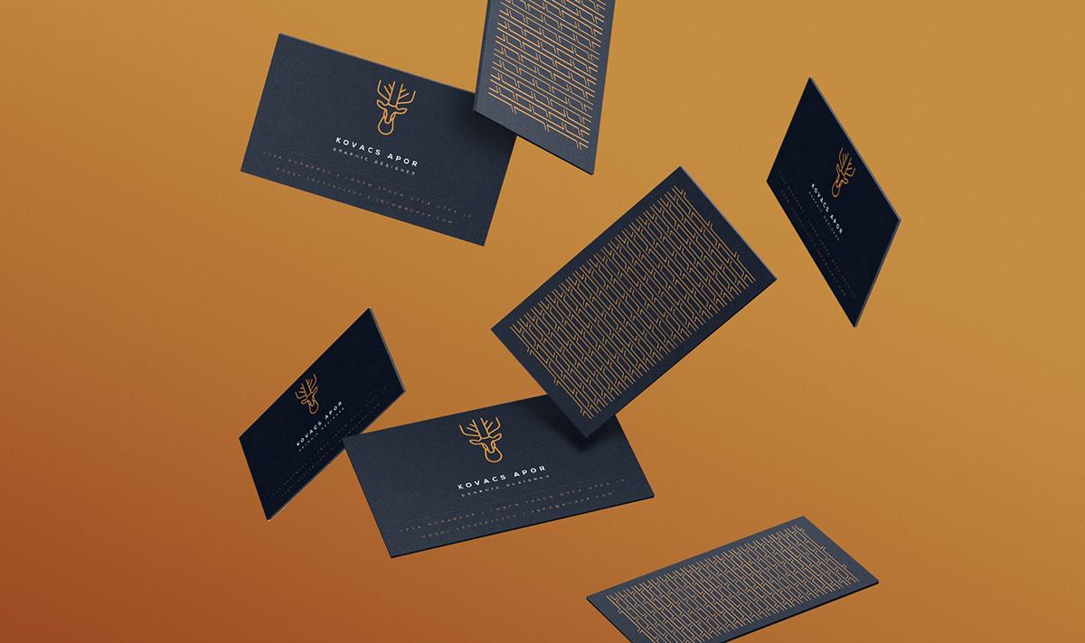 幾何圖形的商旅名片設計-動物風格