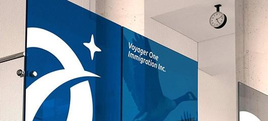 移民、法律相關LOGO設計(藍色)