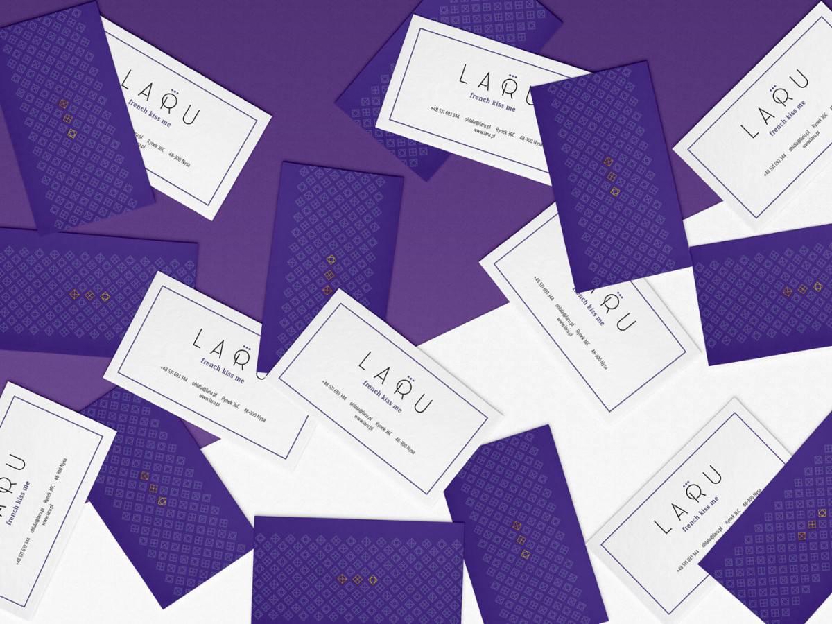 珠寶設計的名片設計(紫色)