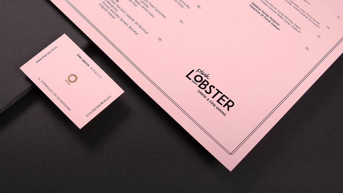 粉紅色的名片設計(簡約/燙金)