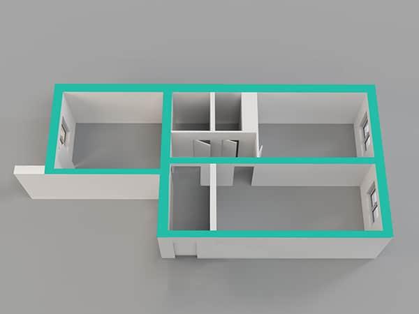 房子的隔間圖